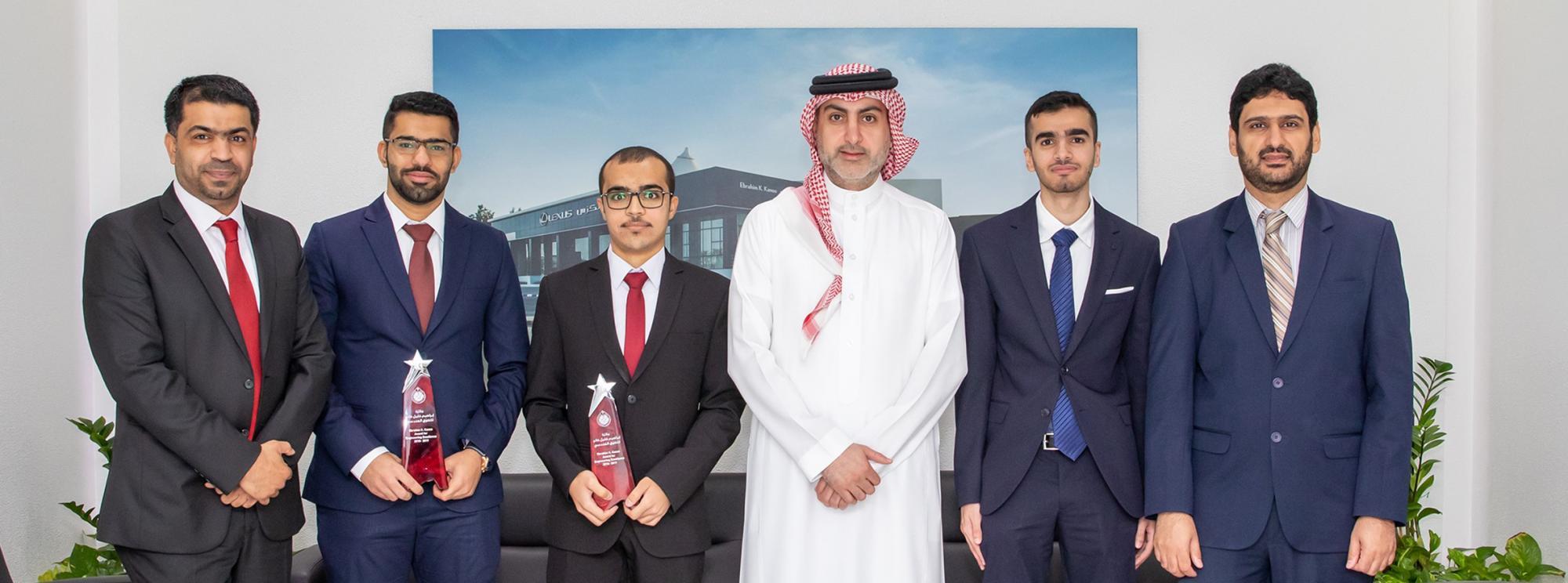 إبراهيم خليل كانو  تشيد بالطلبة الفائزين بجائزة إبراهيم خليل كانو  للتفوق الهندسي